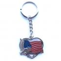 "Porte Clé ""USA"" Proud To Be American chromé"
