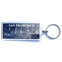 Porte Clé San Francisco plastique bleu nuit