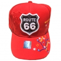 "Casquette Route 66 ""Map"" rouge"
