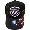 """Casquette Route 66 """"Map"""" noire"""