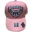 "Casquette Route 66 ""Wings"" rose"