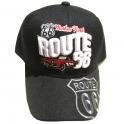 """Casquette Route 66 """"Voiture"""" noire"""