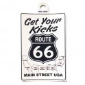 """Autocollant Route 66 """"Get Your Kicks"""""""