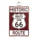"Autocollant Route 66 ""Historic"" marron"