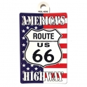 "Autocollant Route 66 ""America's Highway"""