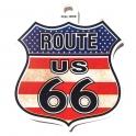 "Autocollant Route 66 ""USA Flag"""
