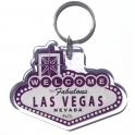 "Porte Clé ""Welcome to Fabulous Las Vegas"" violet"