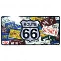 Petite Plaque Métallique Route 66