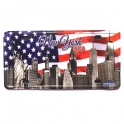 "Magnet New York ""Plaque Immatriculation"" USA Flag"