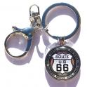 """Porte Clé Route 66 """"Logo 8 States"""""""