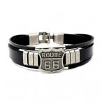 """Bracelet Route 66 """"Bikers"""" Cuir"""