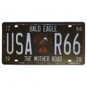 """Plaque Métallique Route 66 """"Eagle"""""""