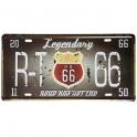 """Plaque Métallique Route 66 """"Legendary"""""""