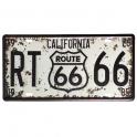 """Plaque Métallique Route 66 """"California"""""""