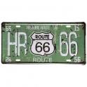 "Plaque Métallique Route 66 ""Historic"" verte"