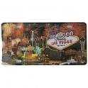 "Plaque Métallique Las Vegas ""Feu d'artifice"""