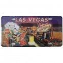 """Plaque Métallique Las Vegas """"Jeux"""""""