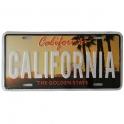 """Plaque Métallique Californie """"Sunshine"""""""