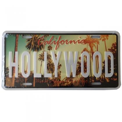 """Plaque Métallique Hollywood """"Palmiers"""""""