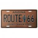 """Plaque Métallique Route 66 """"Arizona"""""""