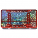 "Magnet San Francisco ""Golde Gate"" plastique paillette"