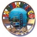 "Magnet San Francisco ""Plate"" métal"