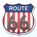 "Magnet Route 66 ""Logo"" métal USA Flag"