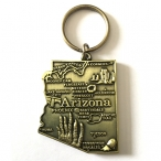 "Porte Clé ""Arizona"" doré"