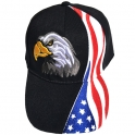 "Casquette USA ""Aigle"" noire"