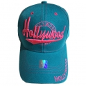 """Casquette Los Angeles """"Hollywood"""" turquoise"""