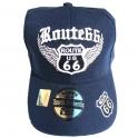 """Casquette Route 66 """"Wings"""" bleu nuit"""