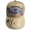 "Casquette Route 66 ""8 Logo Wings"" beige"