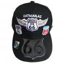 """Casquette Route 66 """"8 Logo Wings"""" noir"""