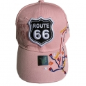 "Casquette Route 66 ""Map"" rose"