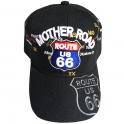 """Casquette Route 66 """"Mother Road Map"""" noir"""