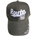Casquette Route 66 couleur taupe