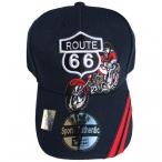 """Casquette Route 66 """"Harley Davidson 2"""" bleu nuit"""