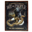 "Grande Plaque Métallique USA ""We The People"""