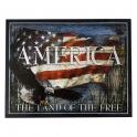 """Grande Plaque Métallique USA """"Land Of The Free"""""""