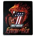 """Grande Plaque Métallique Harley Davidson """"Extreme Heat"""" en relief"""