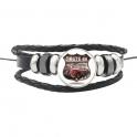 """Bracelet Route 66 """"Logo"""" Voiture 4"""