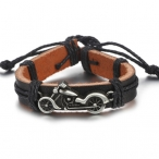 """Bracelet Route 66 """"Moto"""" Cuir"""