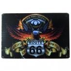 """Plaque Métallique Route 66 """"Bikers"""""""
