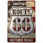 "Plaque Métallique Route 66 ""USA Flag 2"""