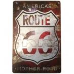 "Plaque Métallique Route 66 ""USA Flag 3"""
