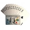 """Jeu de Cartes de luxe """"Dollars"""" argent encrier"""