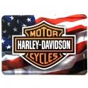 Carte Postale Métallique Harley Davidson