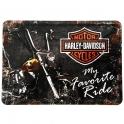 "Carte Postale Métallique Harley Davidson ""Ride"""