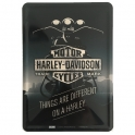 "Carte Postale Métallique Harley Davidson ""Shadow"""