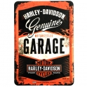 "Carte Postale Métallique Harley Davidson ""Garage"""